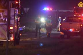 An 18-wheeler containing a flammable liquid rolled over Thursday morning in East Bexar County.