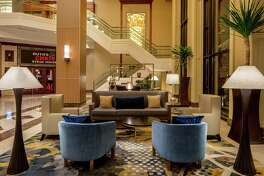 The new lobby lounge at the Hyatt Regency St. Louis at The Arch.