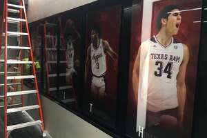 A look at the Texas A&M basketball locker room after a $6 million renovation heading into the 2017-18 season.