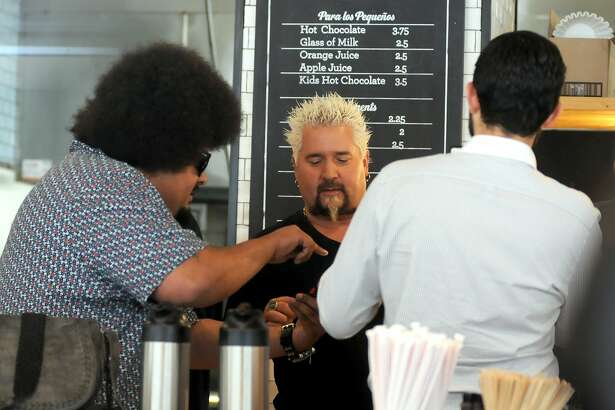 Food Network star Guy Fieri strolled through downtown San Antonio with a film crew Monday afternoon including a stop at La Panaderia. Fiery has visited several spots in the Southwest United States in recent weeks and has posted about it on social media using the hashtag #GuysFamilyRoadTrip.