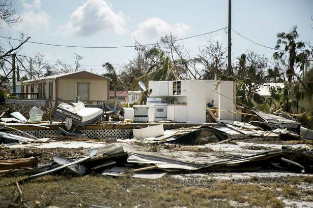 A home destroyed by Hurricane Irma on Little Torch Key, Fla., in the Keys, Sept. 13, 2017. Stressed and exhausted families across the Southeast were assessing the damage from Irma on Wednesday, even as flooding from the storm continued to plague some areas. (Sam Hodgson/The New York Times)