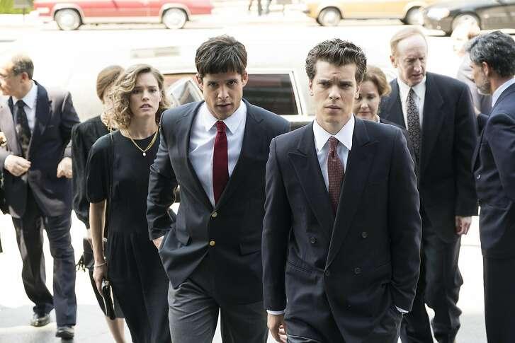 "Miles Gaston Villanueva andGus Halper portray defendants Lyle and Erik Menendez in ""Law & Order True Crime: The Menendez Murders"" on NBC."