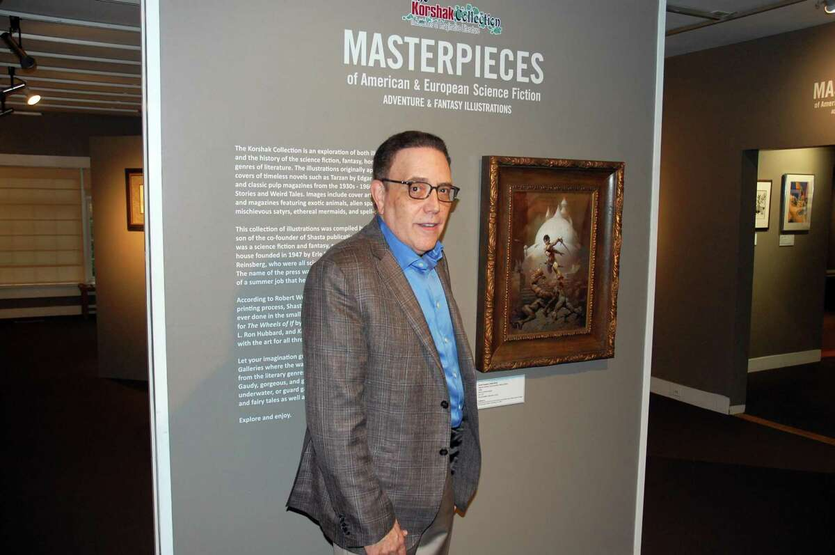 Stephen Korshak, the owner of the Korshak Collection, Illustrations in Imaginative Literature, has loaned 68 pieces to the Stamford Museum & Nature Center exhibition that runs from Friday to Oct. 29.