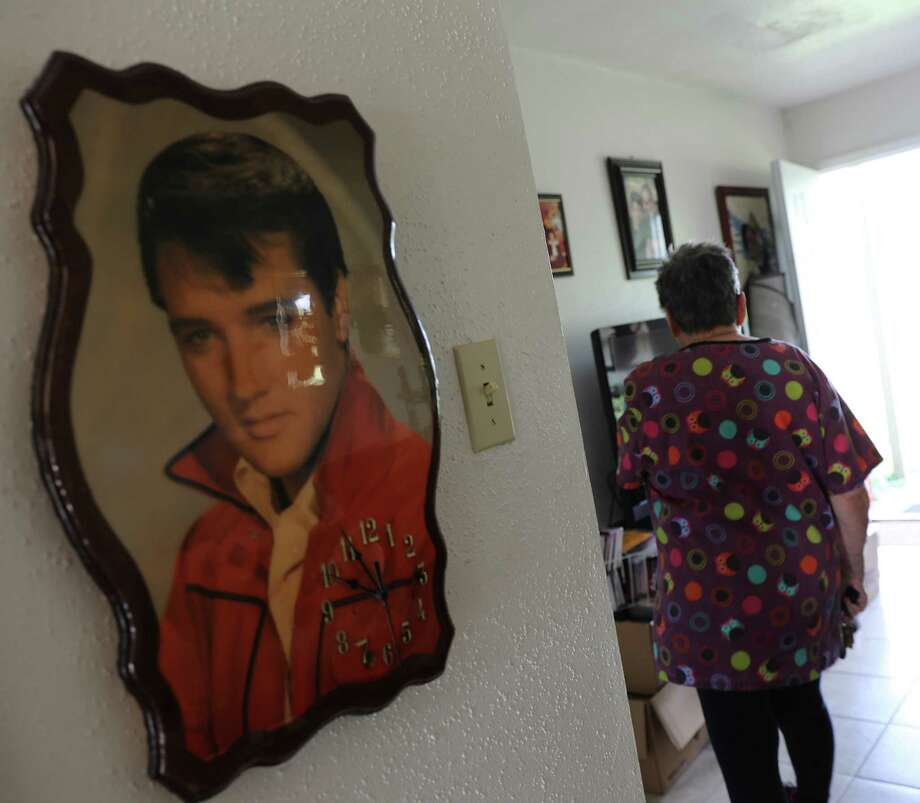 Sherry Abegzel walks through her apartment at Travis Villas in Liberty, Texas on Tuesday, Sept. 19, 2017. The National Weather Service estimates that Liberty County received more than 54 inches of rain when Harvey lashed the region late last month( Elizabeth Conley / Houston Chronicle ) Photo: Elizabeth Conley, Staff / © 2017 Houston Chronicle
