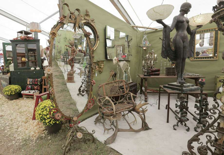 Dealers from around the country put a lot of thought and creativity into their booths at  Marburger Farm Antique Show  in Round Top. It's a great place to get ideas. Photo: Elizabeth Conley, Staff / © 2016 Houston Chronicle