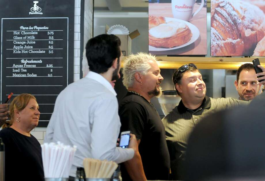 Food Network star Guy Fieri filmed at La Panaderia during a 2017 visit to San Antonio. Photo: Paul Stephen /San Antonio Express-News