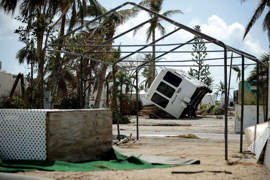 Recreational vehicle trailers are scattered and tossed after Hurricane Irma blew through at the Sunshine Key RV Resort and Marina Sept. 13 on Big Pine Key, Fla. Photo: Chip Somodevilla / Getty Images / 2017 Getty Images