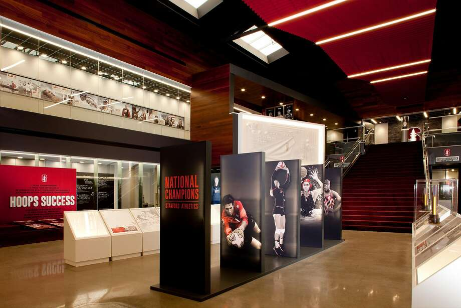 Stanford's new Home of Champions exhibit in the Arrillaga Family Sports Center, open to the public for the first time Saturday, is where Cardinal sports nostalgia meets high tech. Photo: Stanford Athletics