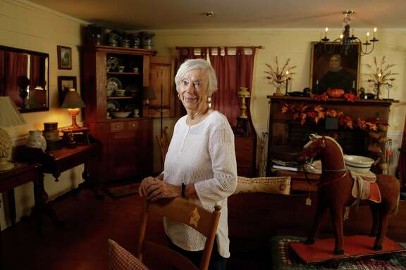 Nancy Krause, owner of Nancy's Antiques, 509 W. Chauncy, in Brenham, is shown Tuesday, Aug. 22, 2017.  She is the only antiques vendor who has participated in the Original Round Top Antiques Fair in its 50 years of operation.  ( Melissa Phillip / Houston Chronicle )