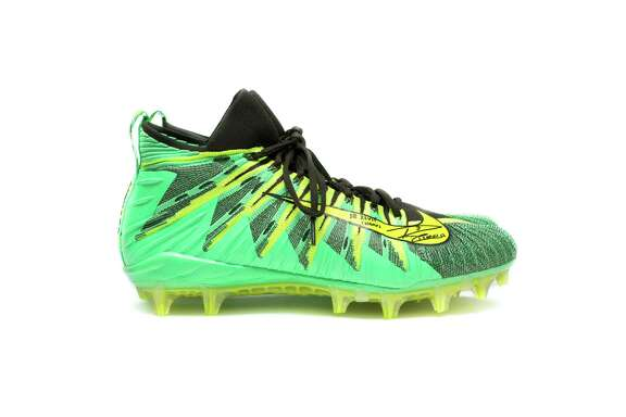 Russell Wilson donated: Nike Alpha Menace cleats, signed