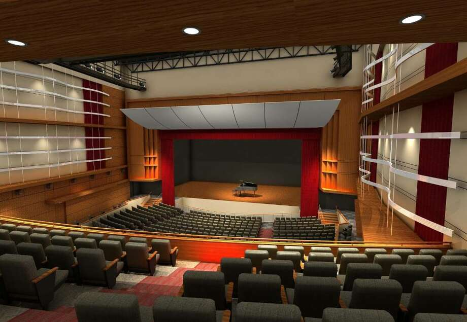 This artist's rendering shows the interior of the envisioned Greenwich High School auditorium and music instructional space. Photo: Contributed Photo / Greenwich Time Contributed