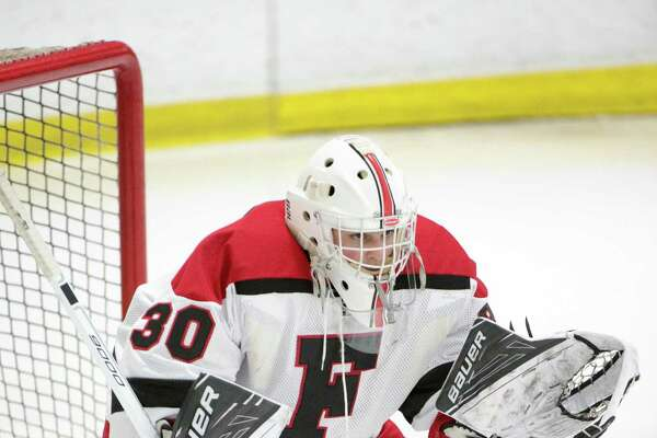 Fairfield co-op goaltender Charlie Capalbo