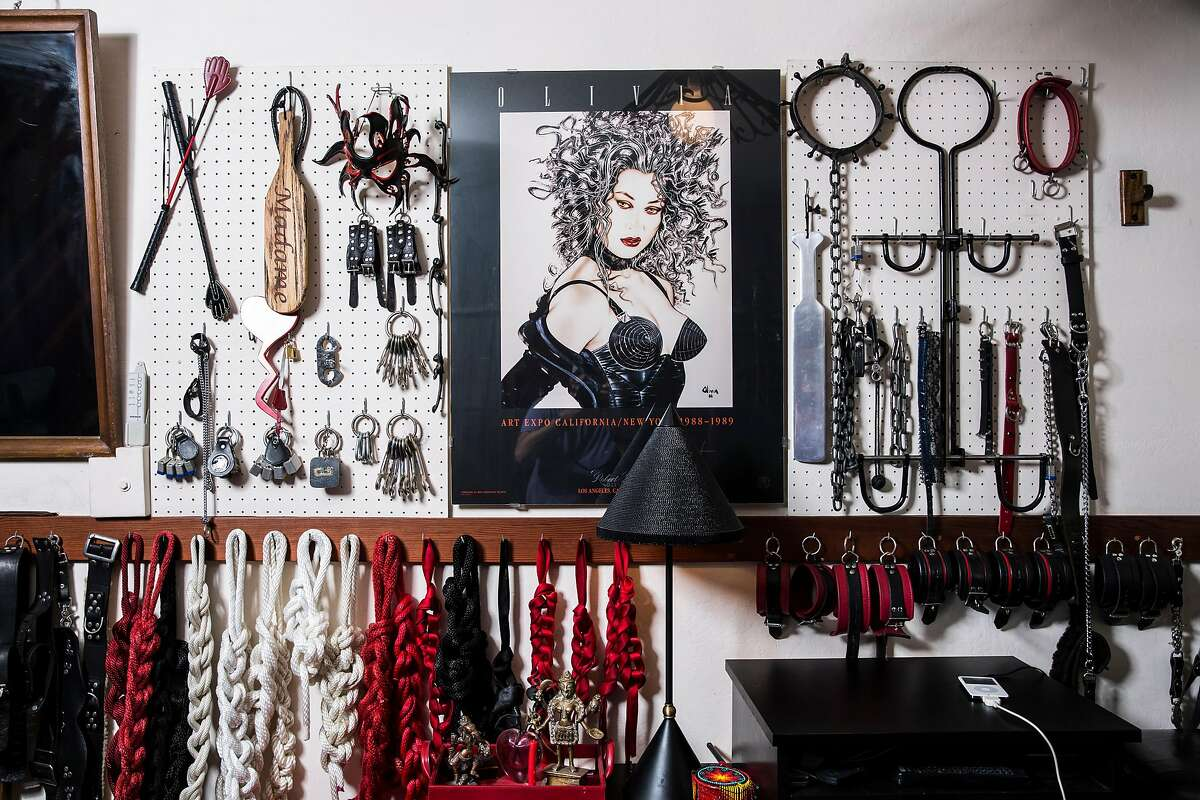 Bondage play equipment is seen at the dungeon inside the home of Fakir Musafar and Cleo du Bois in Silicon Valley on Monday, Aug. 21, 2017. Musafar is a practitioner of body modifications who now teaches at a piercing school while du Bois advocates and teaches bondage play.