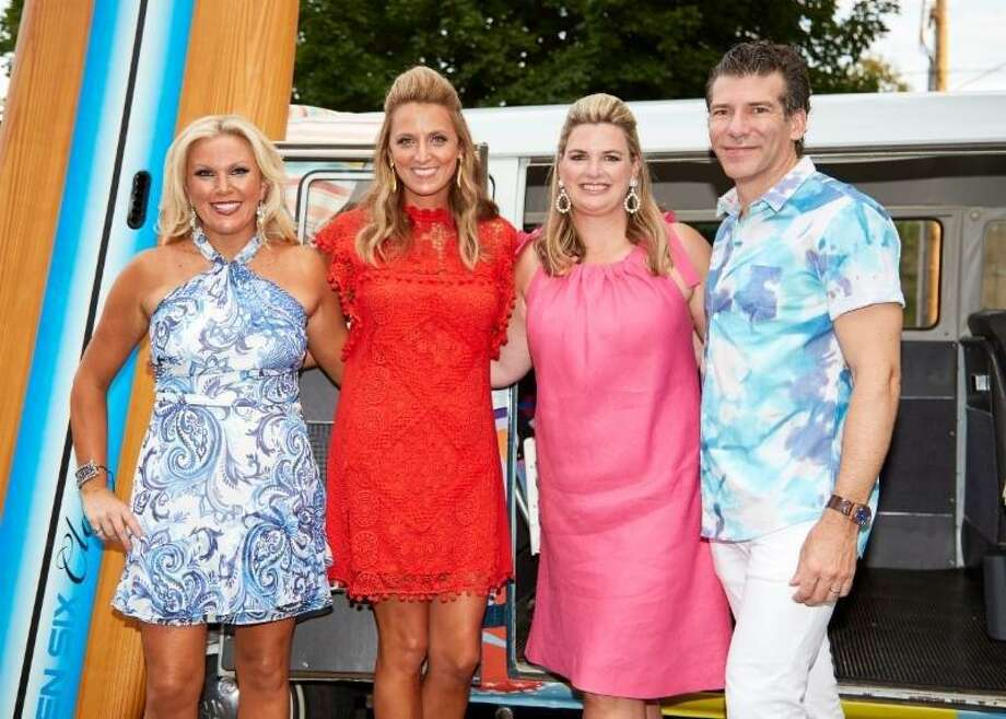 """From left, April Larken, Catie Salyer, Alexandra Codraro and Douglas Graneto at Boys & Girls Club of Greenwichs 2017 Endless Summer benefit, """"Endless Summer,"""" led by Co-chairs Alexandra Codraro and Catie Salyer, Décor Chair April Larken and Vice Chair of Décor Douglas Graneto on Sept. 15. The Club raised $585,000 for programs designed to keep Greenwich youth safe and productive after school. The club helps provide services to 350 young people each weekday. Photo: Contributed Elaine Ulbina /"""