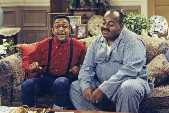 """UNITED STATES - OCTOBER 08:  FAMILY MATTERS - """"Saved by the Urkel"""" - Season Five - 10/8/93, Urkel (Jaleel White) used CPR to save Carl's (Reginald VelJohnson) life. ,  (Photo by ABC Photo Archives/ABC via Getty Images)"""