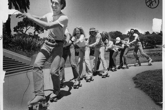 Roller skating photo was taken July 13, 1978.
