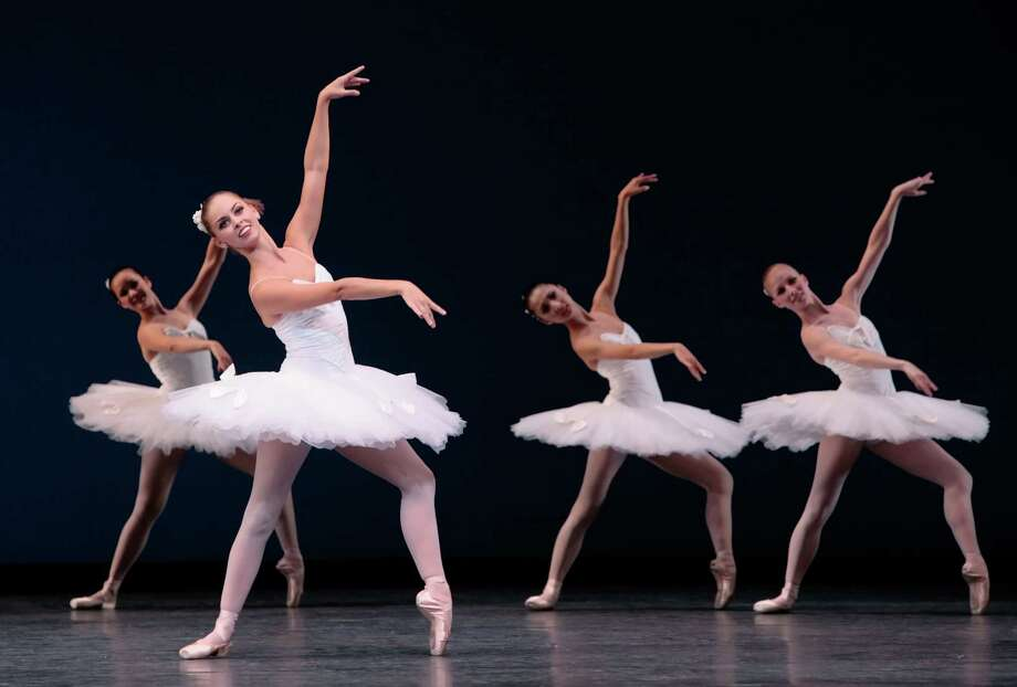 Houston Ballet performs George Balanchine's Symphony in C. The Houston Ballet is one of the performing arts groups that will participate in Houston Strong: A Theater District Benefit Honoring Local Heroes on Sept. 27 at Miller Outdoor Theatre.
