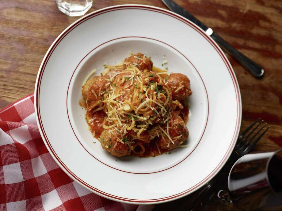 Spaghetti and meatballs at Buddy V's. Photo: Courtesy Buddy V's