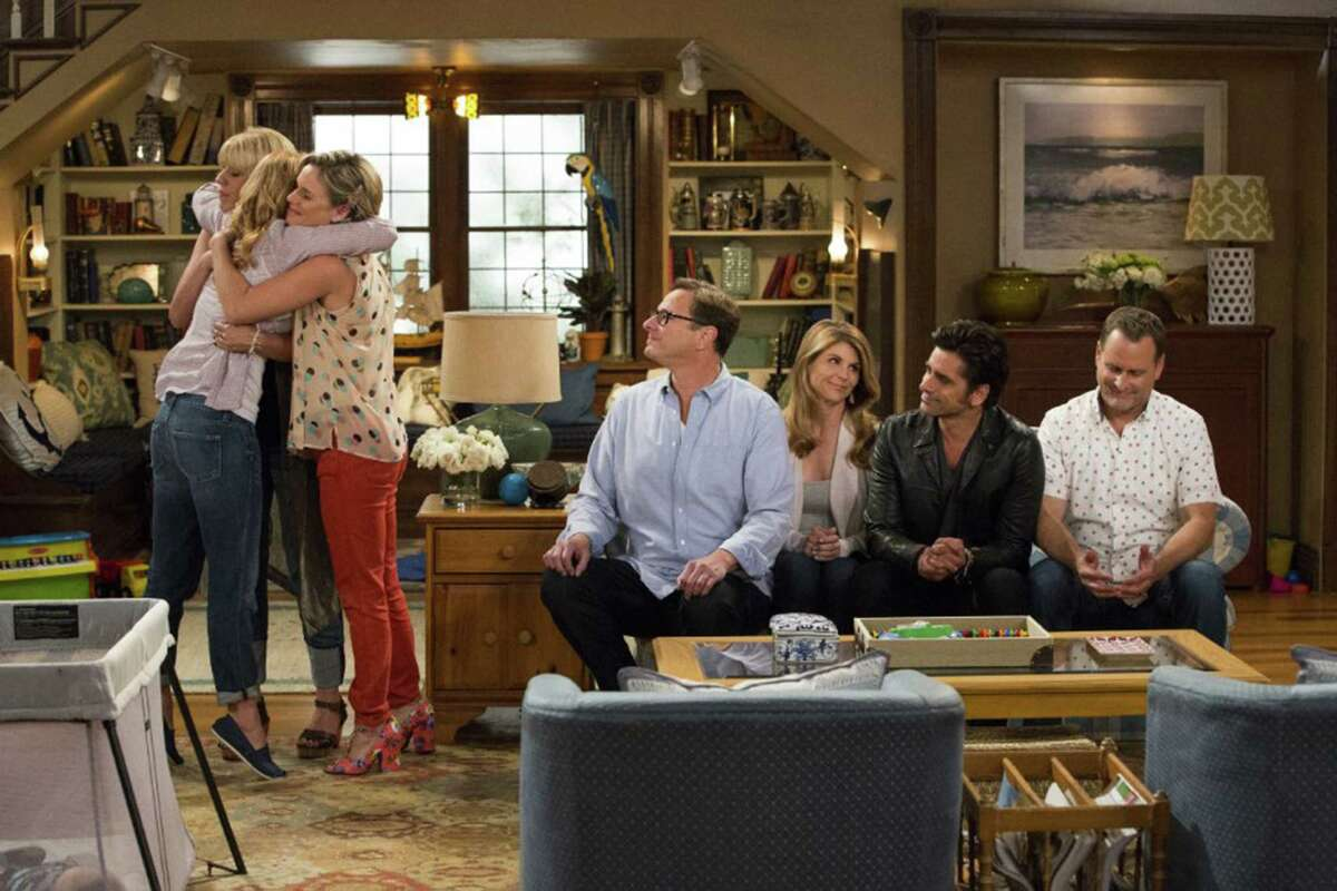 John Stamos, Andrea Barber, Candace Cameron Bure, Dave Coulier, Lori Loughlin, Bob Saget and Jodie Sweeton in