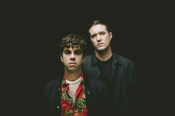 Lead singer Asa Taccone (left) and drummer Matthew Compton are Electric Guest.