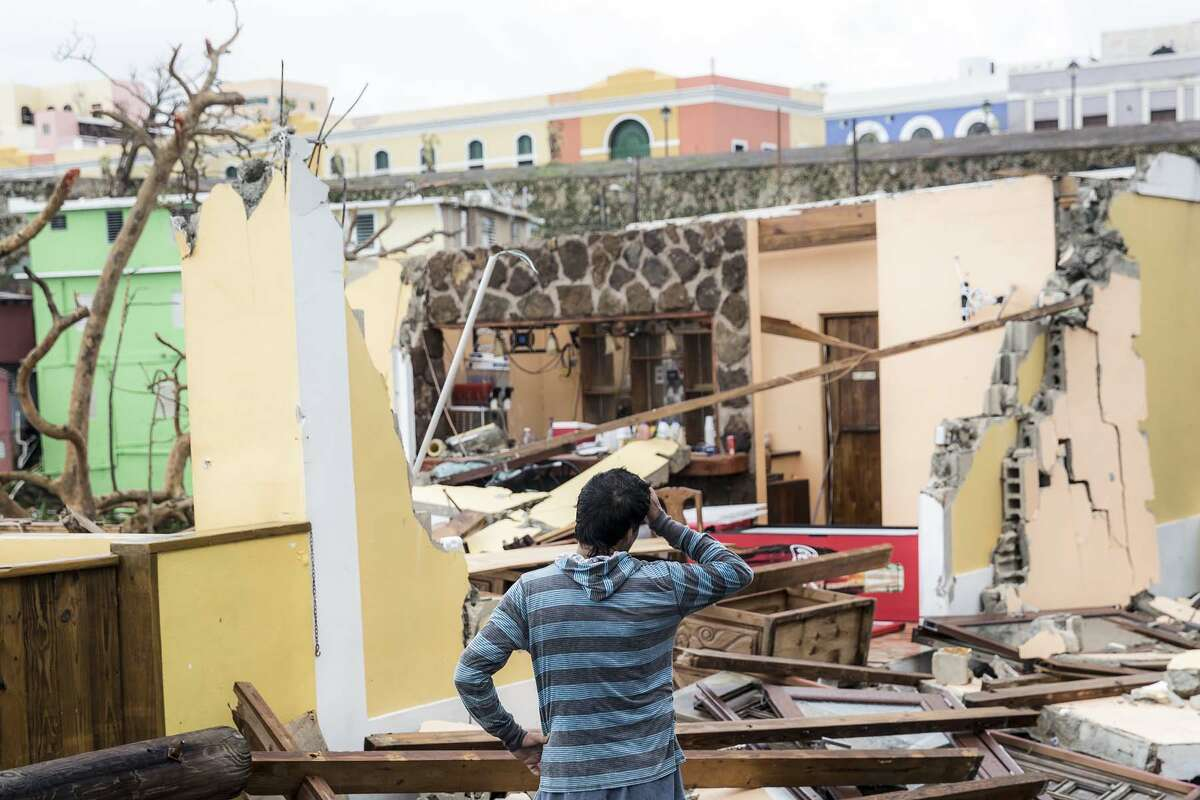 Millions of Puerto Ricans are looking to rebuild after facing the worst of Hurricane Maria with 175 mph winds and rain. Click through the slideshow to see the destruction.