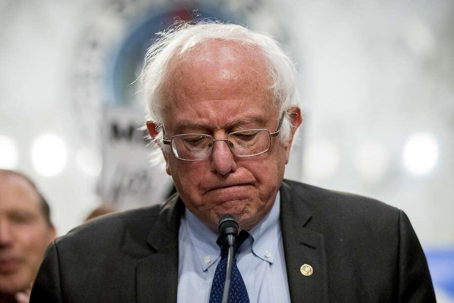Sen. Bernie Sanders, I-Vt., pauses while speaking at a news conference on Capitol Hill in Washington on Sept. 13. Photo: Andrew Harnik, Associated Press