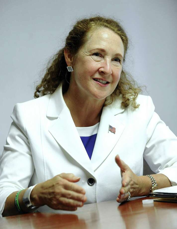 U.S. Rep. Elizabeth Esty meets with The News-Times editorial board Thursday, Sept. 21, 2017. Photo: Carol Kaliff / Hearst Connecticut Media / The News-Times