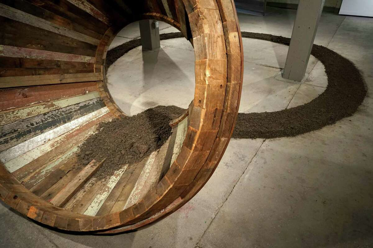 Dane Winkler, Azimuth (earth, lumber, steel) (Photo by William Jaeger)