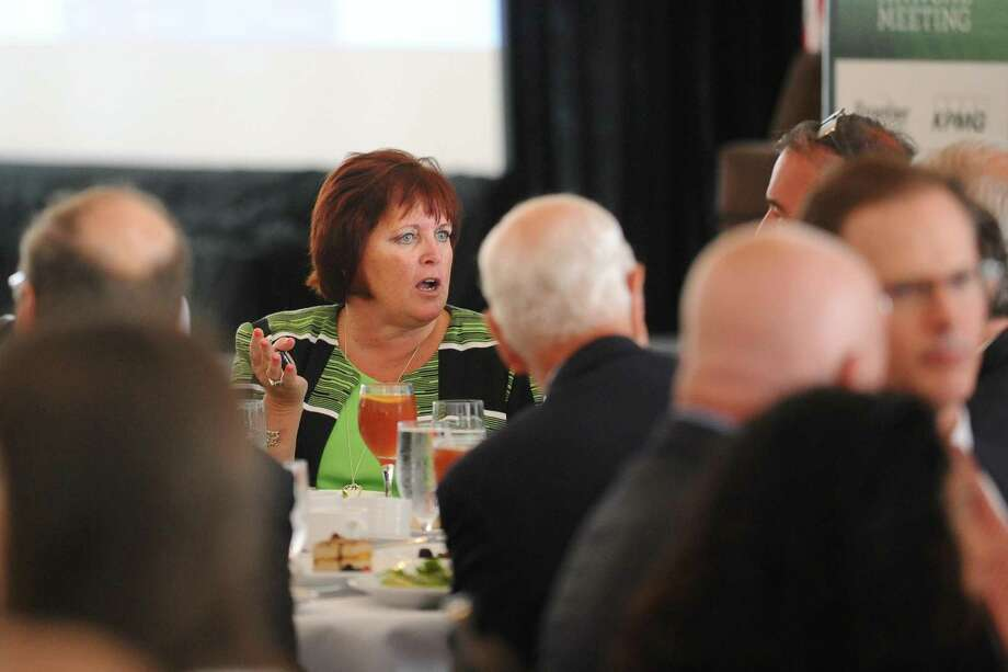 Synchrony Financial CEO Margaret Keane in June 2016 in Stamford, Conn. On Sept. 21, 2017, Fortune named Keane one of the 25 most powerful women in business, the highest of any CEO of a Connecticut-based company. Photo: Michael Cummo / Hearst Connecticut Media / Stamford Advocate