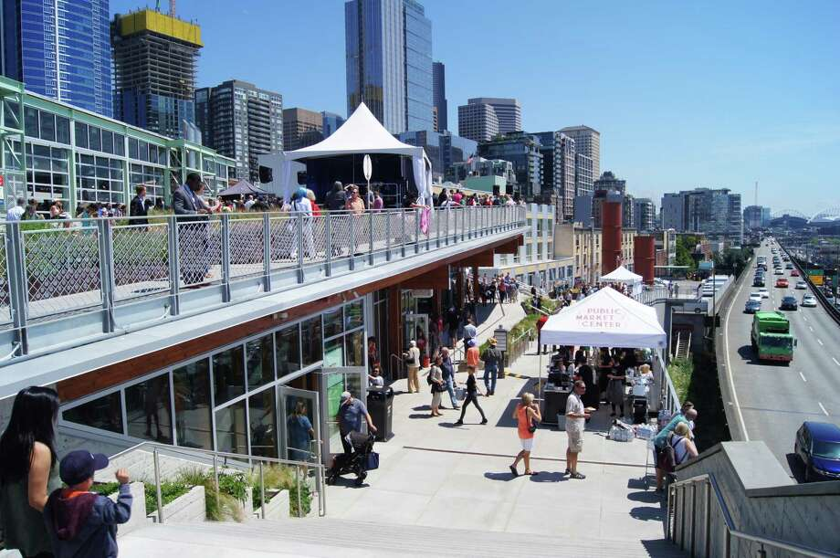 """For the first time in 40 years, Pike Place Market expanded with the opening of its new """"MarketFront."""" Photo: Courtesy Of Berger Partnership. / The Washington Post"""