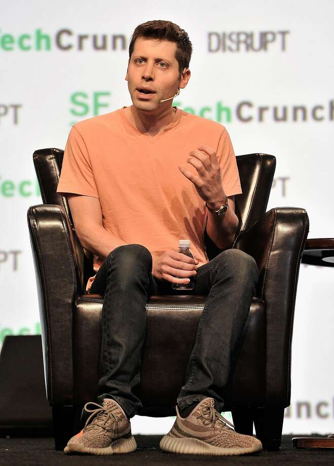 A nonprofit founded by Y Combinator's Sam Altman, seen speaking onstage at TechCrunch Disrupt in San Francisco in September, is raising funds to launch what could become the nation's largest basic income research project. Photo: Steve Jennings, Getty Images For TechCrunch