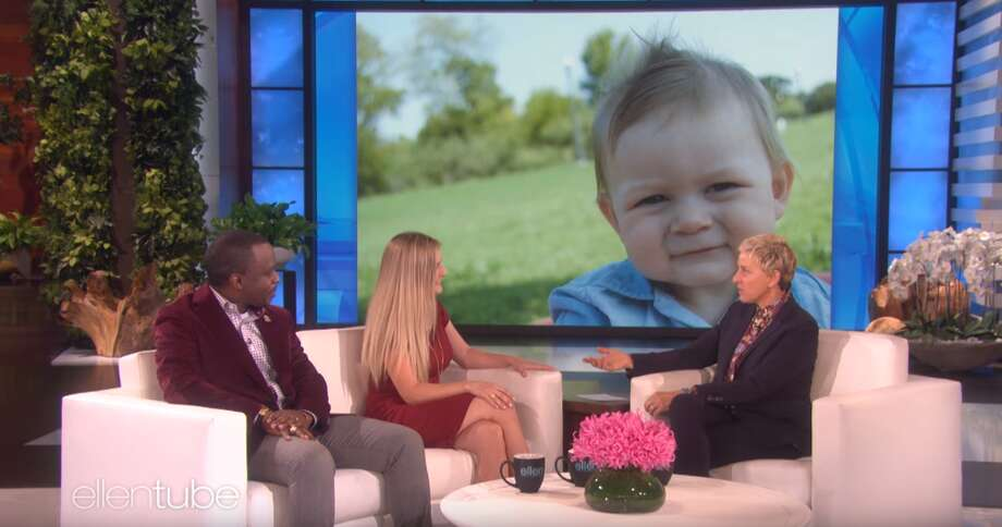 "Babysitting professor Single mom Ashton Robinson and Dr. Henry Musoma recently appeared on the ""The Ellen DeGeneres Show"" to talk about their heartwarming story.See photos of baby Emmett during class."