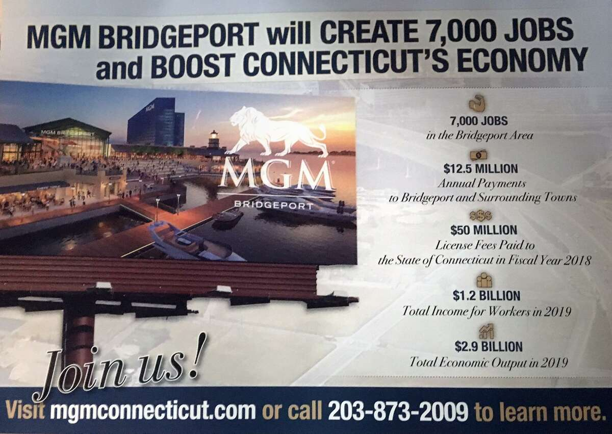 Flyers have started showing up in local mailboxes promoting the proposed MGM casino in Bridgeport.