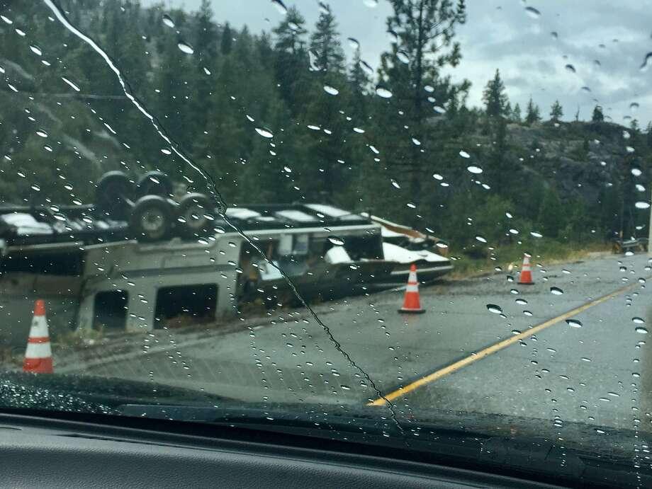 I-80 was closed Thursday after a deadly crash. Photo: Susan Safipour