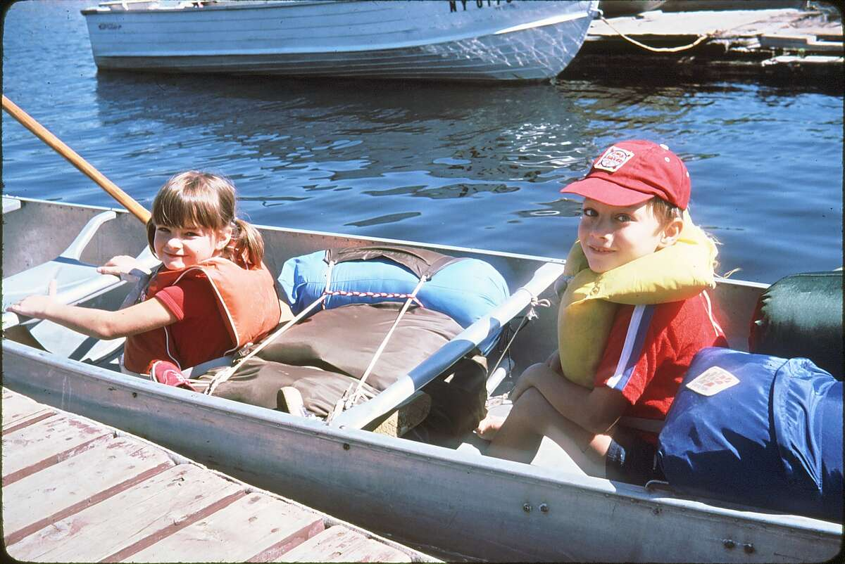 Outdoors writer Gillian Scott, with her brother, Peter, during the family's first canoe camping trip on Stillwater Reservoir. (Courtesy of G. Eric Scott)