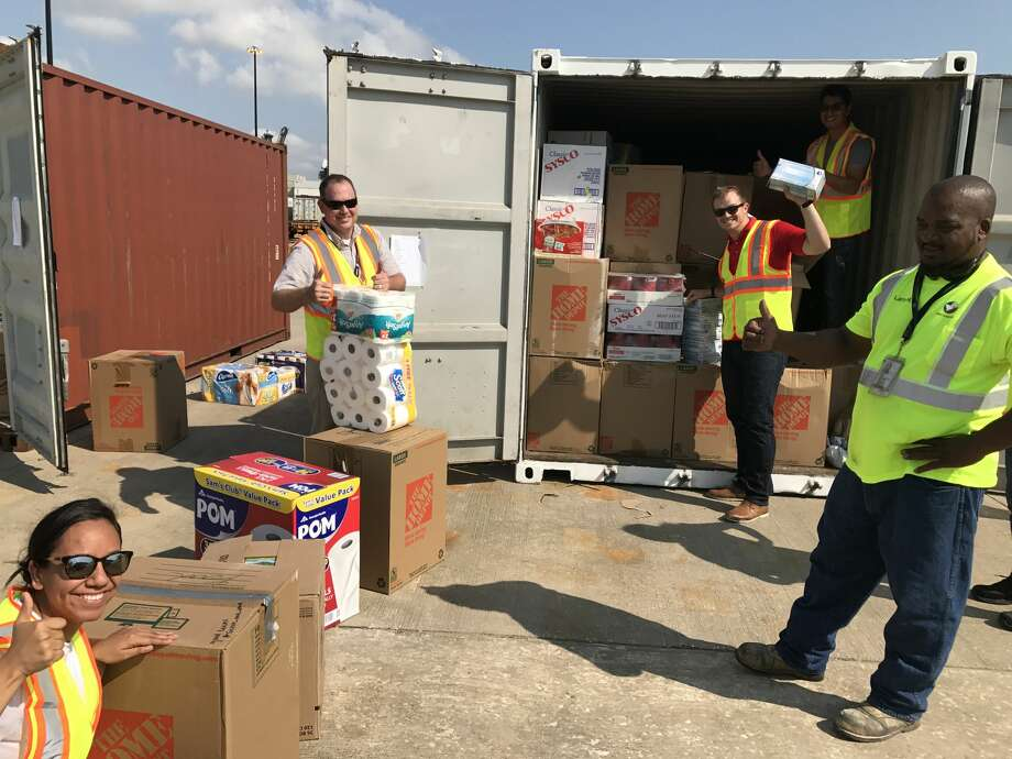 The Georgia Ports Authority sent four 20-foot containers of disaster relief supplies to assist Port Houston employees and others whose homes were flooded during Hurricane Harvey. Photo: Port Houston
