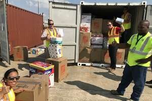 The Georgia Ports Authority sent four 20-foot containers of disaster relief supplies to assist Port Houston employees and others whose homes were flooded during Hurricane Harvey.