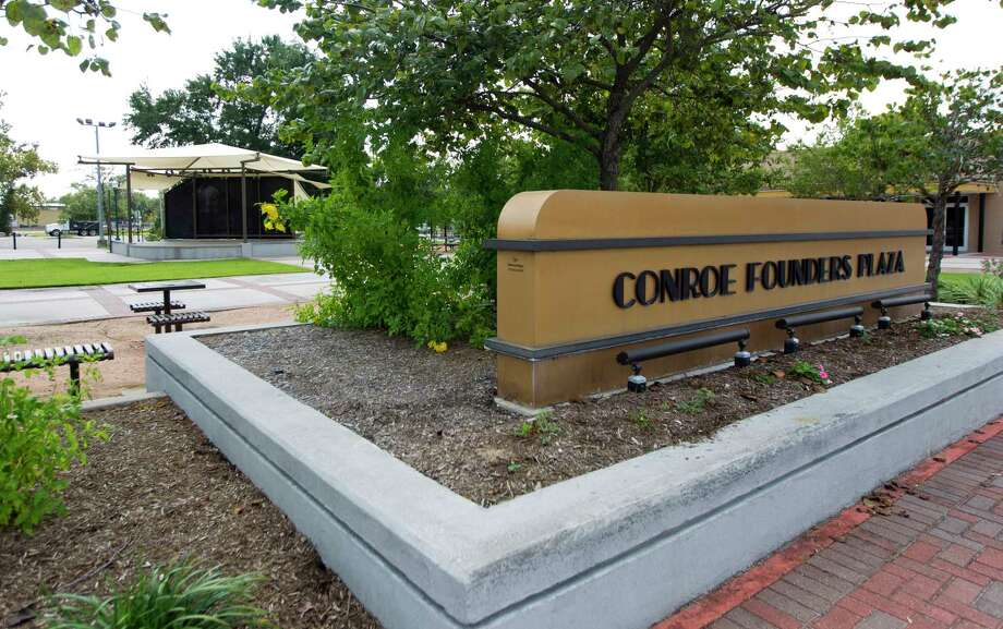 Conroe Founders Plaza is seen in downtown Conroe, Wednesday, Sept. 20, 2017, in Conroe. Photo: Jason Fochtman, Staff Photographer / © 2017 Houston Chronicle