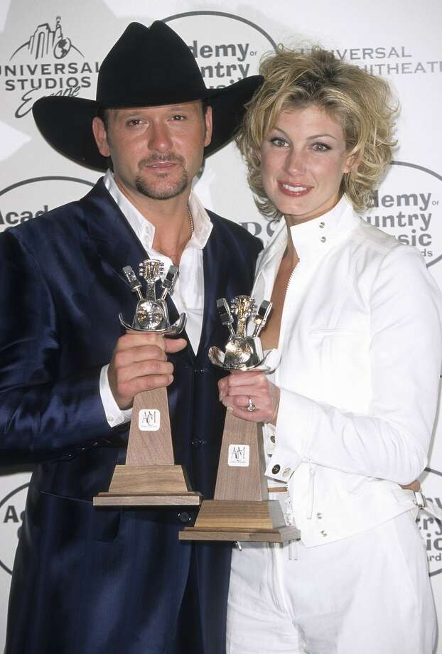 UNIVERSAL CITY, CA - MAY 5:   Singer Tim McGraw and singer Faith Hill attend the 34th Annual Academy of Country Music Awards on May 5, 1999 at Uniersal Amphitheatre in Universal City, California. (Photo by Ron Galella, Ltd./WireImage) Photo: Ron Galella/WireImage