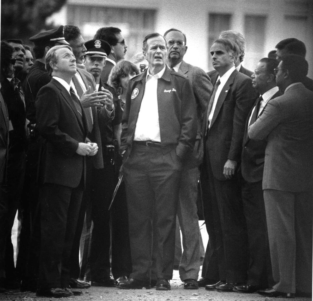 President George Bush, exclaims