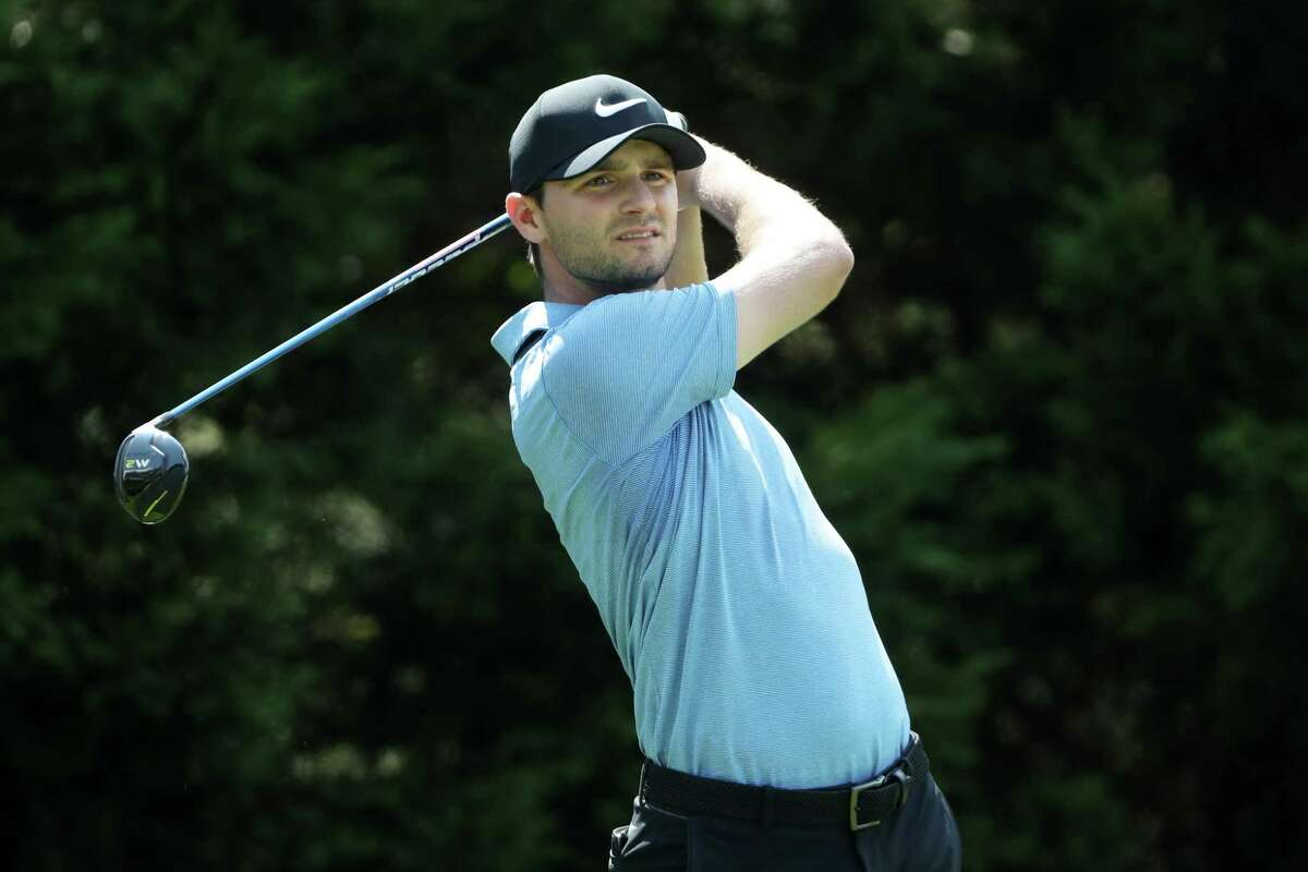 ATLANTA, GA - SEPTEMBER 21: Kyle Stanley of the United States plays his shot from the eighth tee during the first round of the TOUR Championship at East Lake Golf Club on September 21, 2017 in Atlanta, Georgia. (Photo by Sam Greenwood/Getty Images) ORG XMIT: 686980737