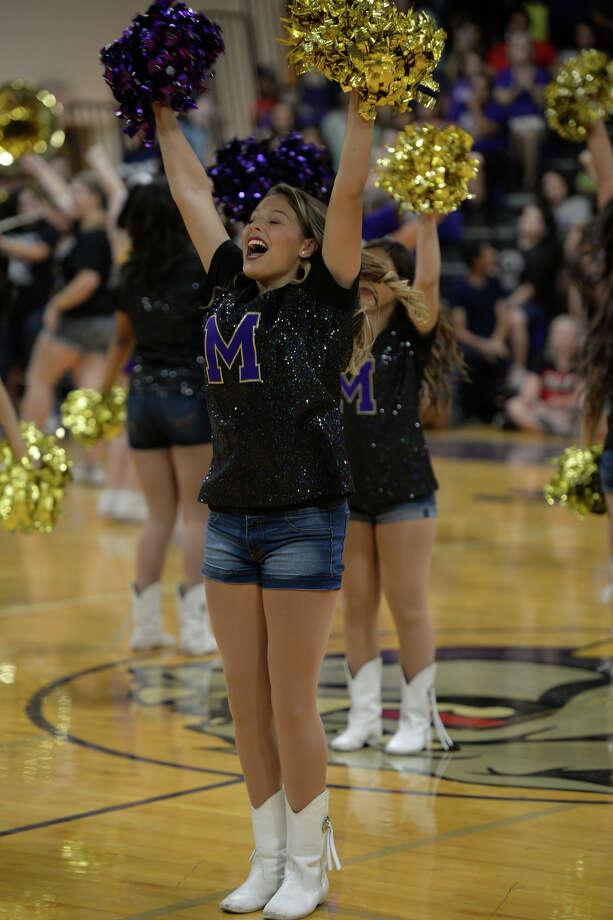 Midland High Starz dance team during the homecoming pep rally Sept. 21, 2017, at MHS. James Durbin/Reporter-Telegram Photo: James Durbin