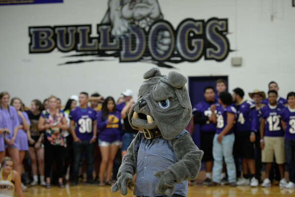 "Midland High mascot ""Spike"" during the homecoming pep rally Sept. 21, 2017, at MHS. James Durbin/Reporter-Telegram"