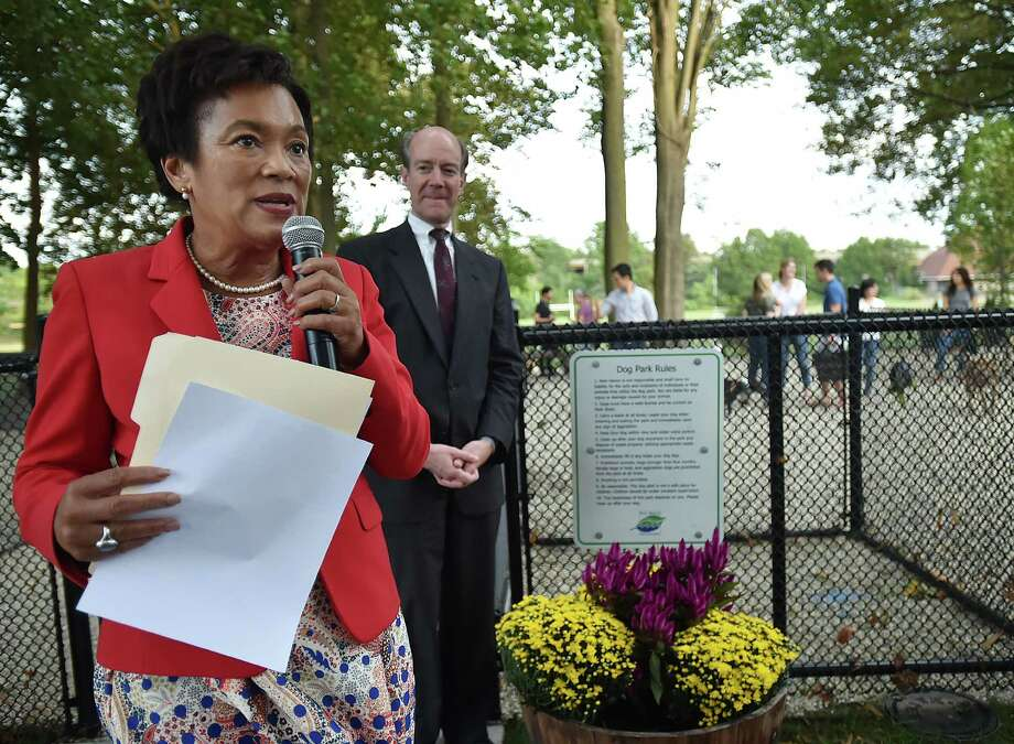 Images of the grand opening of the Mechanic Street Dog Park at 107 Mechanic Street in the East Rock section of New Haven, Thursday, September 21, 2017. Photo: Catherine Avalone, Hearst Connecticut Media / New Haven Register