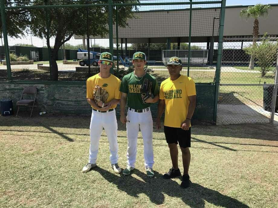 Laredo Community College baseball players (from left) Ricardo Villarreal, Juliann Hinojosa and Angel De La Paz were selected to play in the Texas-New Mexico All Star Game. Photo: Bud Denega / Laredo Morning Times