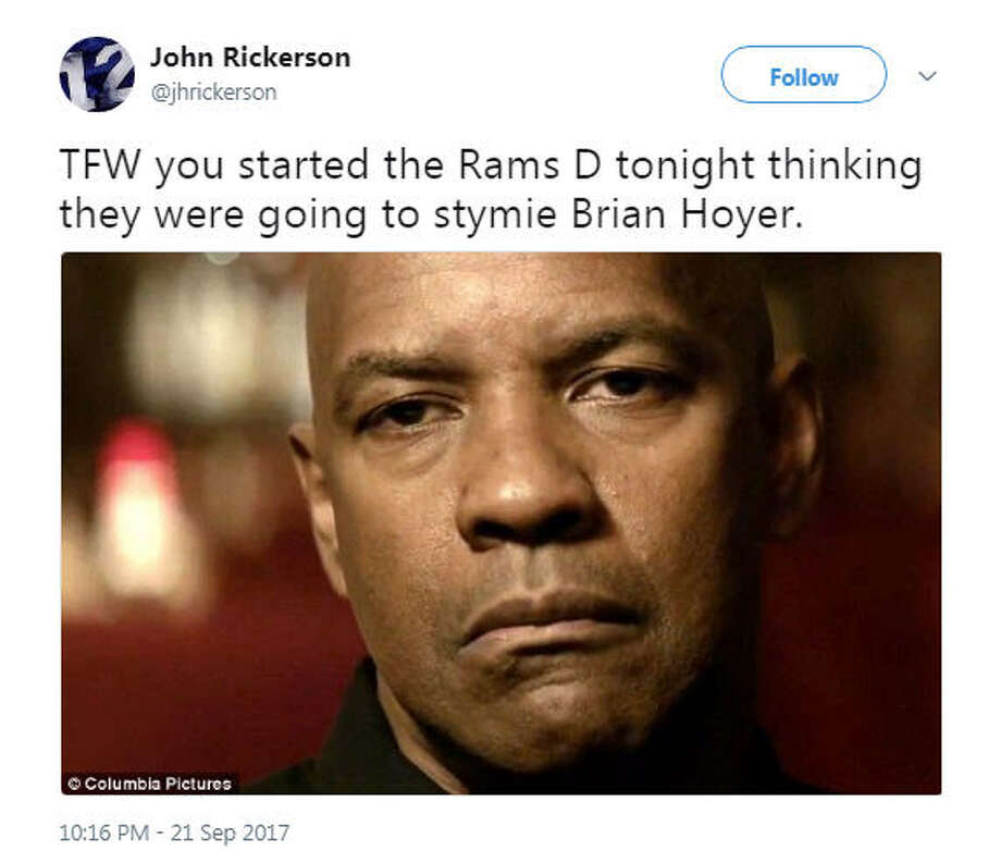 Source: TwitterBrowse through the photos to see the best reactions to Thursday night's shootout between the 49ers and Rams. Photo: Twitter