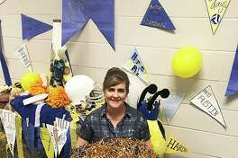 Teacher Amanda Key has been planning hall decorations at Hardin High School for 19 years and has instilled school spirit when there was none.