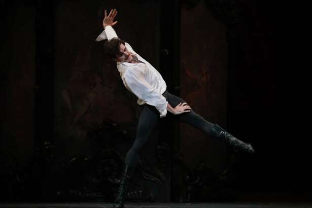 """Connor Walsh as Prince Rudolf in Houston Ballet's production of Sir Kenneth MacMillan's """"Mayerling."""""""