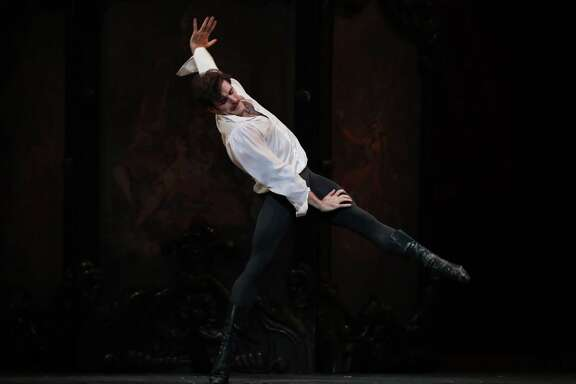 "Connor Walsh as Prince Rudolf in Houston Ballet's production of Sir Kenneth MacMillan's ""Mayerling."""