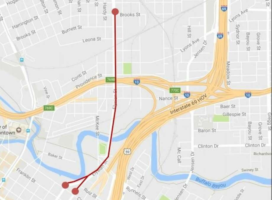 I-10 Katy/East Freeway will close in both directions from 8 p.m. Friday, Sept. 22 through 5 a.m. Monday, Sept. 25. Photo: GoogleMaps